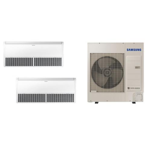 Climatizzatore SAMSUNG DUALSPLIT PAVIMENTO SOFFITTO 18000 + 18000 BTU  R-410 TRIFASE