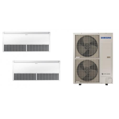 Climatizzatore SAMSUNG DUALSPLIT PAVIMENTO SOFFITTO 42000 + 42000 BTU  R-410 TRIFASE