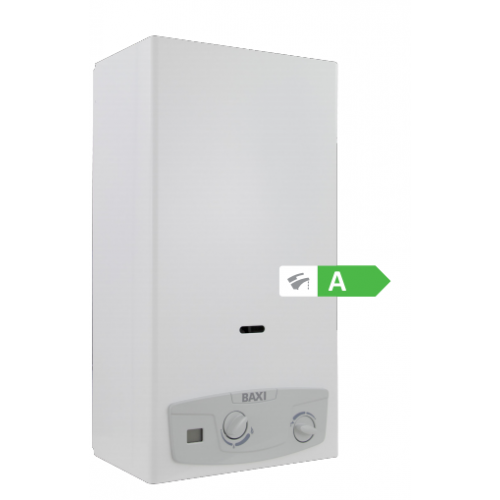 SCALDABAGNO A GAS A CAMERA APERTA BAXI MOD. ACQUAPROJET BLUE i LOW NOX 11 LT METANO/GPL
