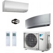 Daikin Condizionatore Dual Split 9+12 Perfera + Emura Parete WiFi FTXM25N+ FTXJ35MS+ 2MXM50M9 9000+12000 Btu A+++ A++ R-32