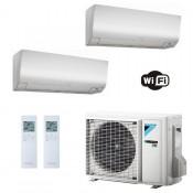 Daikin Condizionatore Dual Split 9+9 Perfera FTXM-N WiFi Bianco FTXM25N+ FTXM25N+ 2MXM50M9 9000+9000 Btu A+++ A++ R-32