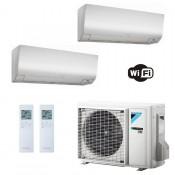 Daikin Condizionatore Dual Split 9+18 Perfera FTXM-N WiFi Bianco FTXM25N+ FTXM50N+ 2MXM50M9 9000+18000 Btu A+++ A++ R-32