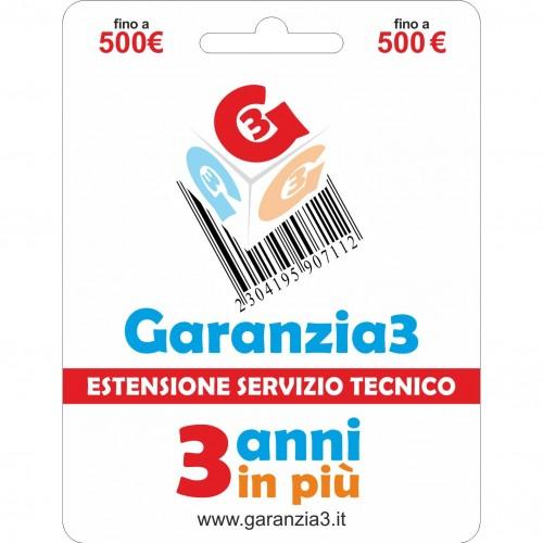 GARANZIA 3 Estensione del Servizio Tecnico Fino a 500 Euro