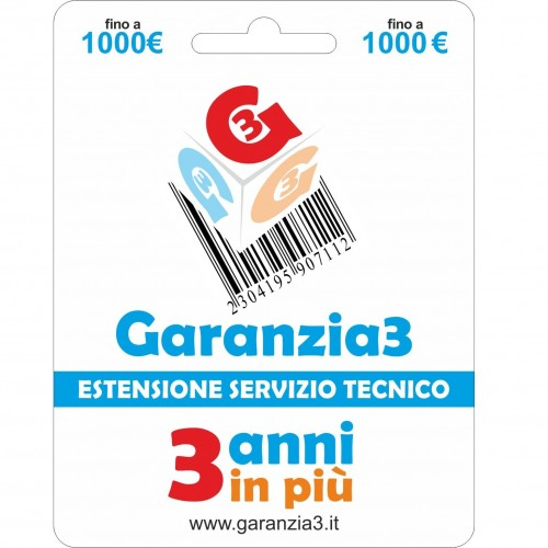 GARANZIA 3 Estensione del Servizio Tecnico Fino a 1000 Euro