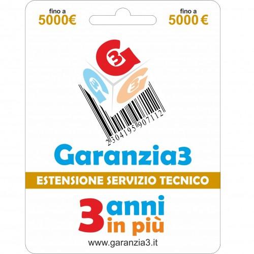 GARANZIA 3 Estensione del Servizio Tecnico Fino a 5000 Euro