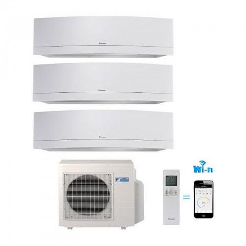 CLIMATIZZATORE CONDIZIONATORE DAIKIN TRIAL SPLIT INVERTER EMURA WHITE wi-fi 9+9+9 con 3MXS52E