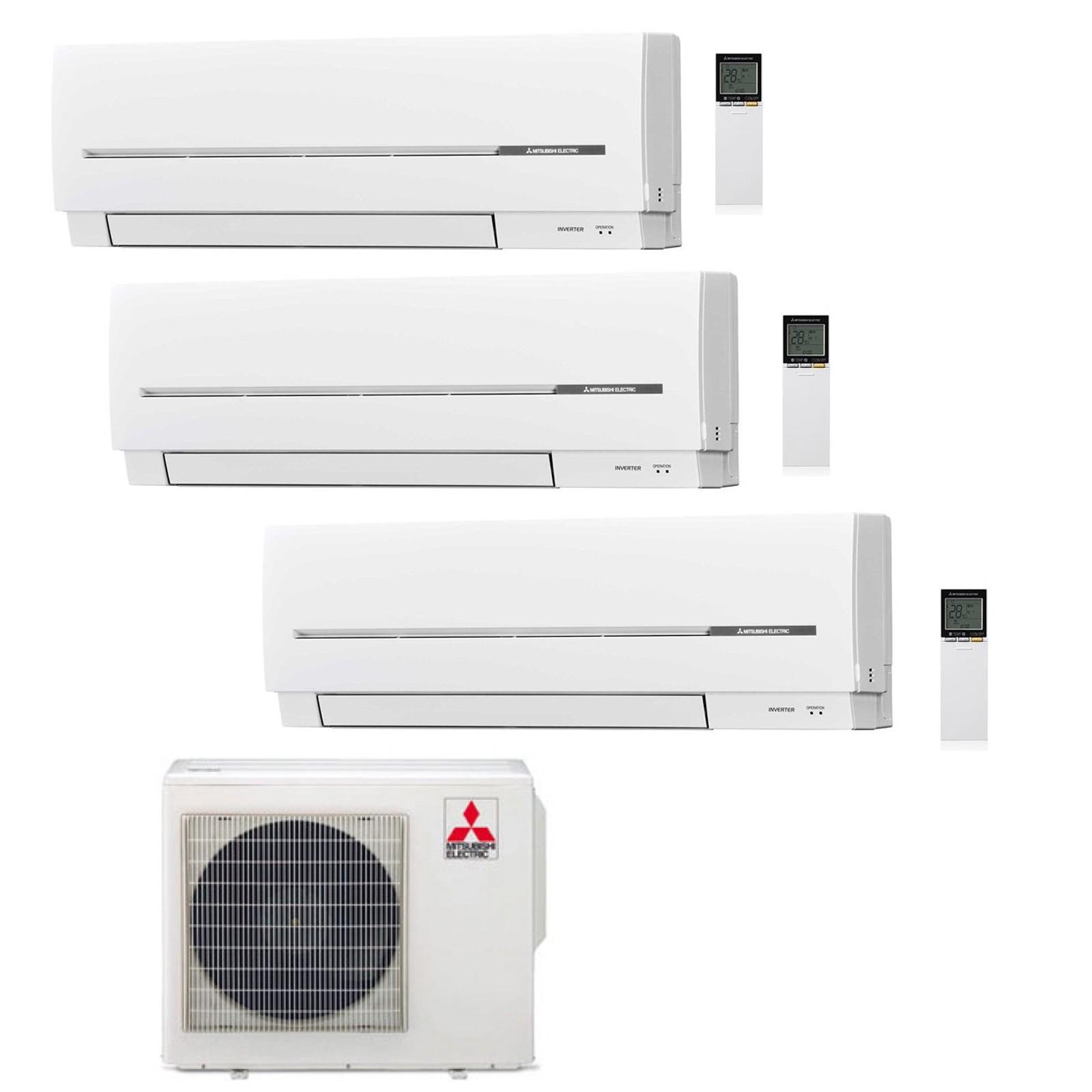 con split condizionatore climatizzatore sf serie mxz inverter dual electric mitsubishi
