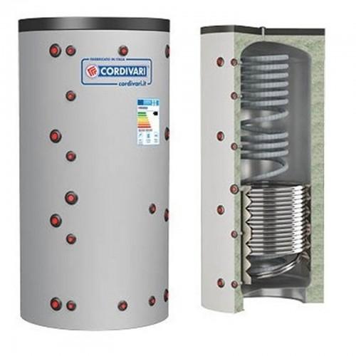Cordivari Puffer ECO-COMBI 2 Bollitore con Riscaldamento + Scambiatore ACS e 1 Scambiatore Fisso Litri 1000