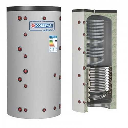 Puffer ECO-COMBI 2 Cordivari Riscaldamento + Scambiatore ACS e 1 Scambiatore Fisso Lt. 800