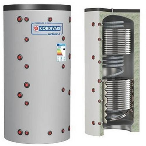 Cordivari Puffer ECO-COMBI 3 HE Bollitore Riscaldamento + Scambiatore ACS e 2 Scambiatori Fissi Litri 600