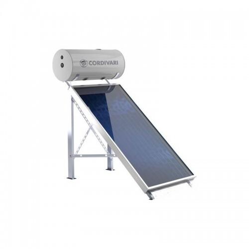 Cordivari Pannello Solare PANAREA 200 Litri 2 mq Circolazione Naturale Installazione tetto inclinato e piano