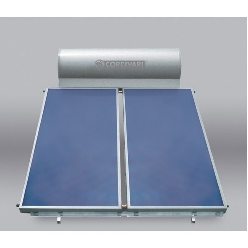 Cordivari Pannello Solare PANAREA 300 Litri 4 mq Circolazione Naturale Installazione tetto inclinato e piano