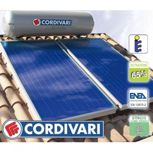 Cordivari Pannello Solare TU NATURAL EVO 200 Litri 4 mq Circolazione Naturale Installazione tetto inclinato e piano