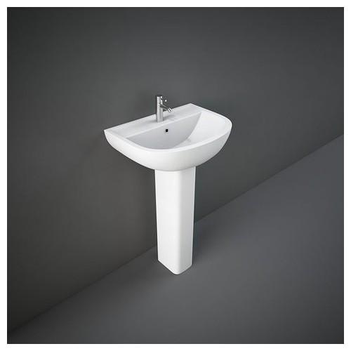 Lavabo con Colonna RAK-COMPACT  380 X 500 MM