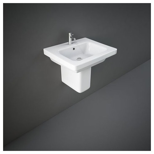 Lavabo con Semicolonna RAK-RESORT 460 X 550 MM