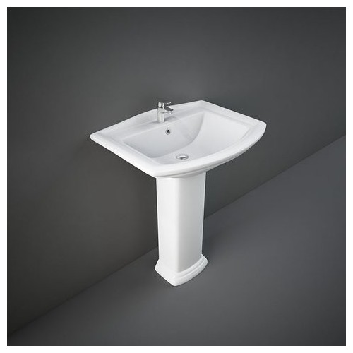 Lavabo con Colonna RAK-WASHINGTON 505 X 650 MM