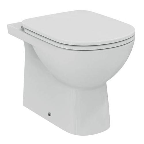 dolomite vaso a pavimento filo parete con sedile e cerniere in metallo cod. J523101