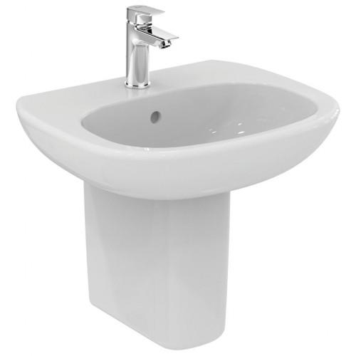 Lavabo con foro semicolonna Tesi 60x47,5 cm