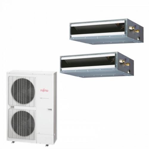 Fujitsu Condizionatore 2 x ABYG18LVTB AOYG36LBTB Dual Split Serie Commerciale LV Twin 18+18 Btu (Comando Incluso)