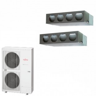 Fujitsu Condizionatore 2 x ARYG22LMLA AOYG45LATT Dual Split Serie Commerciale TRIFASE LM Twin 22+22 Btu (Comando Incluso)