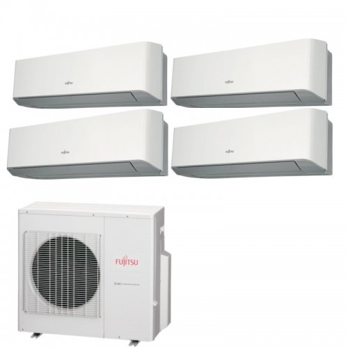 Fujitsu Condizionatore 3 x ASYG07LMCE +ASYG09LMCE AOYG30LAT4 Quadri Split Serie ASYG-LMCE 7+7+7+9 Btu Sostituisce Serie LMCA