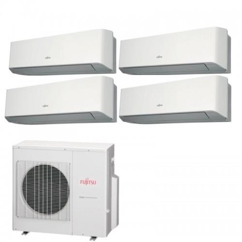 Fujitsu Condizionatore 4 x ASYG12LMCE AOYG30LAT4 Quadri Split Serie ASYG-LMCE 12+12+12+12 Btu Sostituisce Serie LMCA