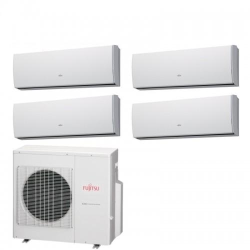 Fujitsu Climatizzatore 4 x ASYG09LUCA AOYG30LAT4 Quadri Split Serie LU 9+9+9+9 Btu