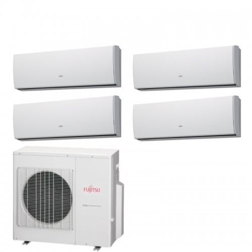 Fujitsu Climatizzatore 2 x ASYG09LUCA 2 x ASYG12LUCA AOYG30LAT4 Quadri Split Serie LUCA 9+9+12+12 Btu