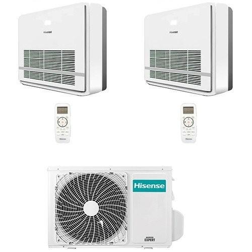 Climatizzatore / Condizionatore Hisense Console R32 Dual Split Inverter 9000 + 9000 BTU con U.E. 2AMW50U4RXA  Classe A++/A+