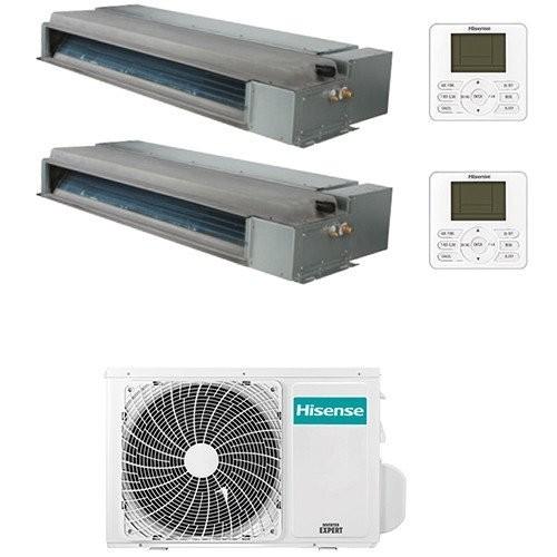 Climatizzatore Condizionatore Hisense Canalizzabile R32 Dual Split Inverter 9000 + 12000 BTU con U.E. 2AMW42U4RRA