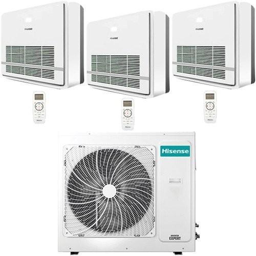 Climatizzatore / Condizionatore Hisense Console R32 Trial Split Inverter 9000 + 9000 + 9000 BTU con U.E. 3AMW70U4RAA