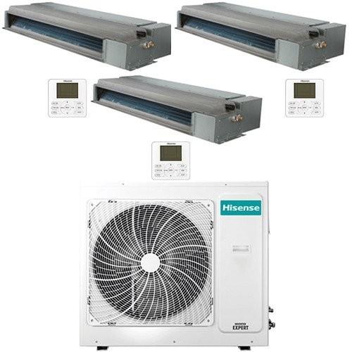 limatizzatore Condizionatore Hisense Canalizzabile R32 Trial Split Inverter 9000 + 9000 + 9000 BTU con U.E. 3AMW70U4RAA