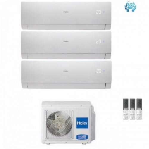 ProdottoClimatizzatore Condizionatore Trial Split Inverter HAIER NEBULA GREEN White R-32 7000+7000+7000 con 3U52S2SG1FA