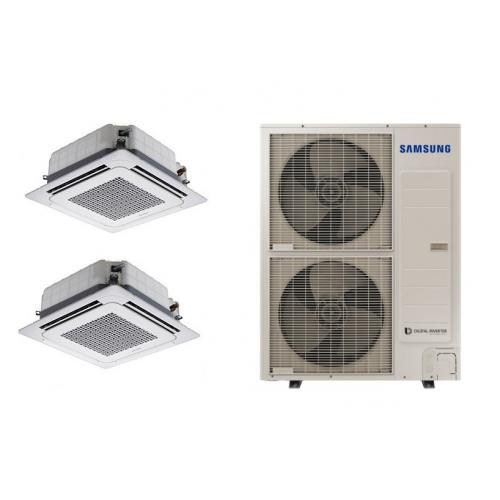 Climatizzatore SAMSUNG Dualsplit Cassetta 4 Vie WINDFREE  24000 + 24000 BTU  R-410