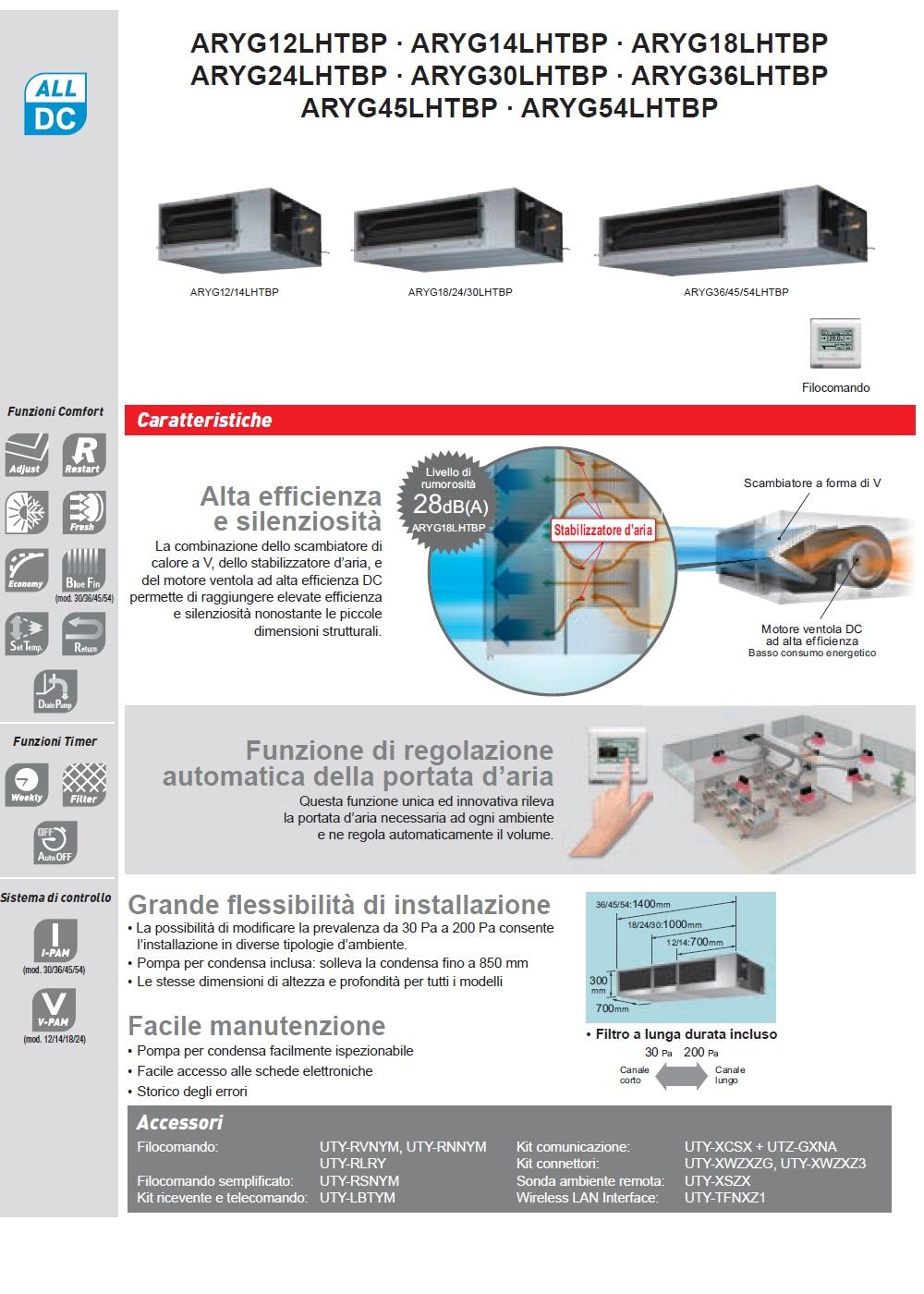 Climatizzatore Fujitsu 45000 Btu Canalizzabile LHT media prevalenza