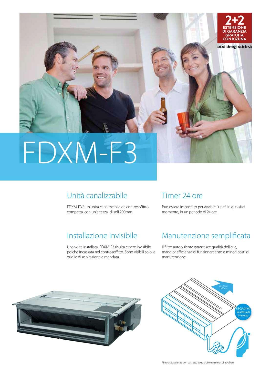 Climatizzatore Daikin Mod Fdxm F3 12000 Btu Fdxm35f3 Rxm35m9